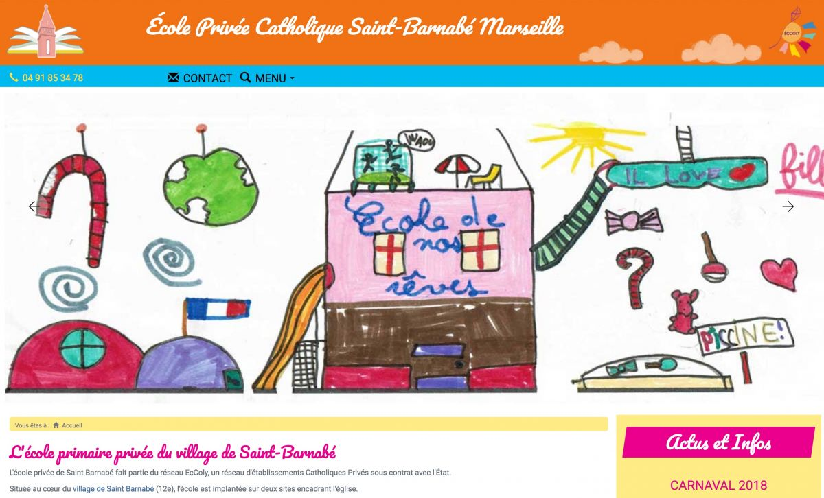 photo SO9 - Nouveau site web de l'École de Saint-Barnabé à Marseille