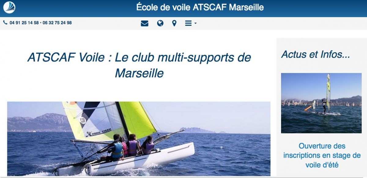 photo SO9 - Nouveau site web de l'école de voile Atscaf Marseille